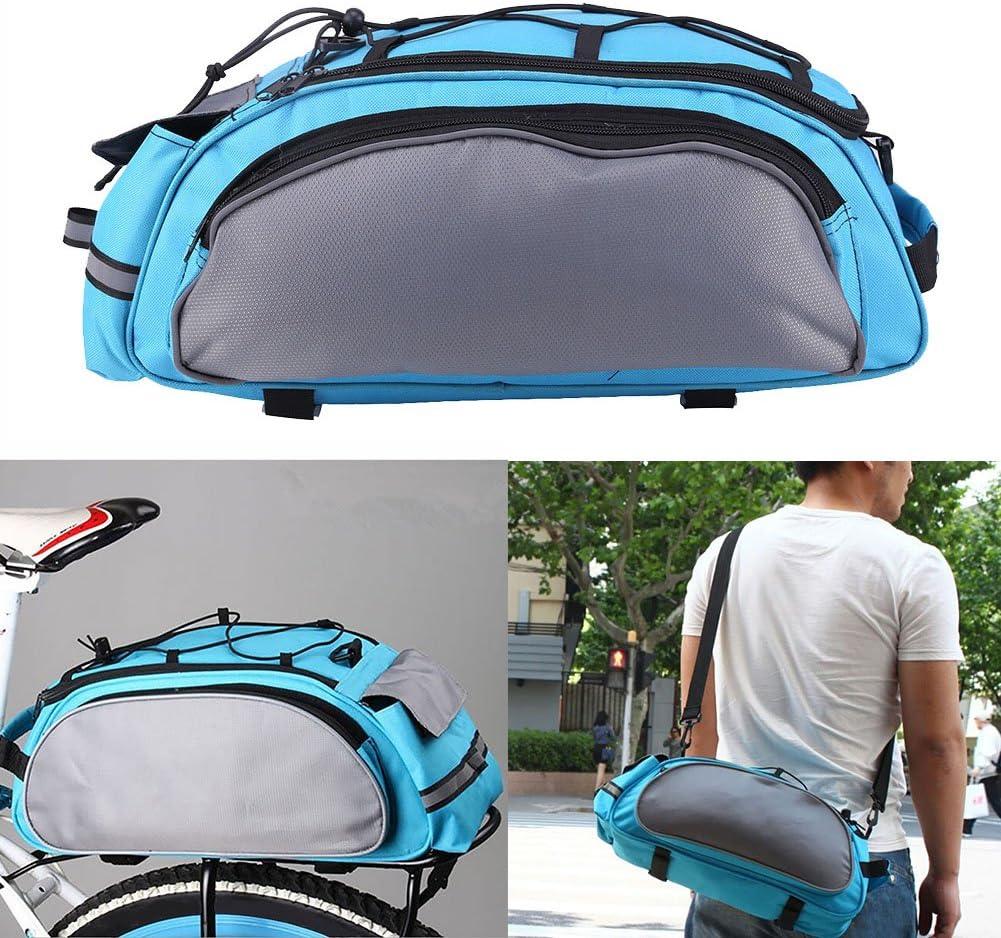 Waterproof Bike Bag Portable Bicycle Rear Rack Seat Trunk Backpack Case Luggage