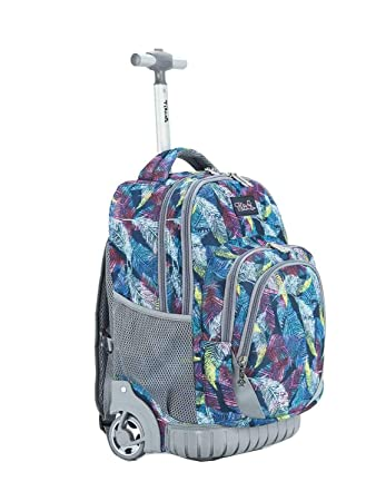 f03a0c240977 Amazon.com  Tilami Rolling Backpack Armor Luggage School Travel Book Laptop  18 Inch Multifunction Wheeled Backpack for Kids and Students (Graffiti)  ...