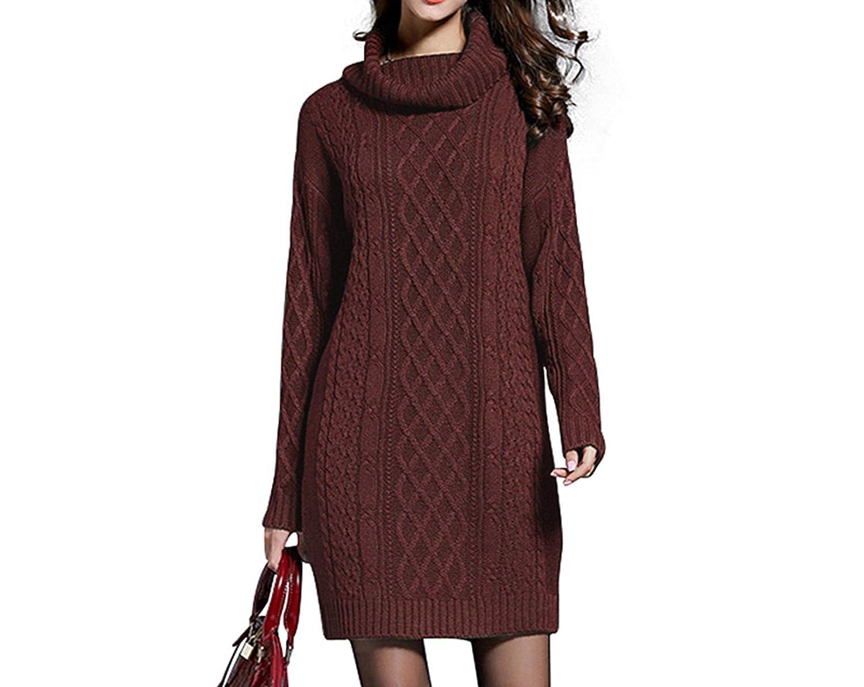 Angelato Winter Sweater Dress Plus Size Women Long Sleeve ...