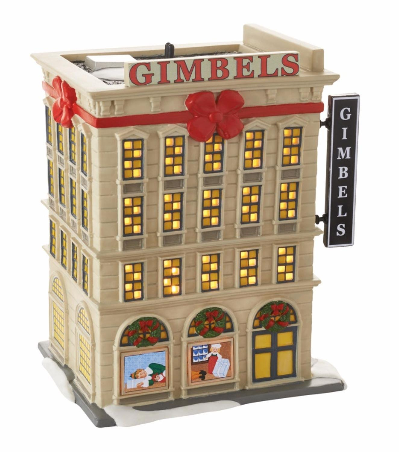 Department 56 Elf The Movie ''Gimbels Department Store'' Lighted Building #4053059