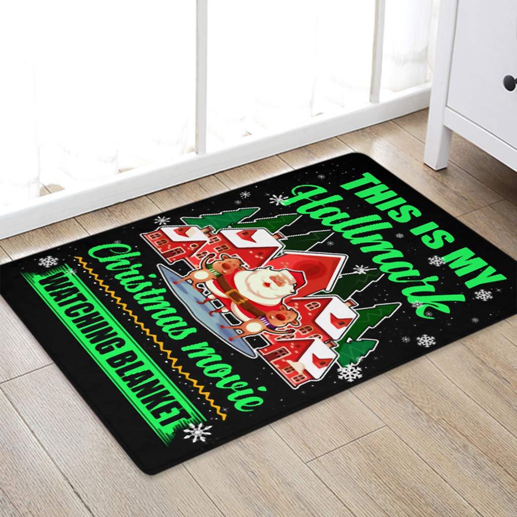 1KTon Christmas Carpet Kitchen Doorway Bathroom Floor Carpet Floor Mat Print 50x80cm by 1KTon