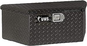 UWS EC20422 34-Inch Gloss Black Heavy-Wall Aluminum Trailer Tongue Tool Box with Low Profile, RigidCore Lid