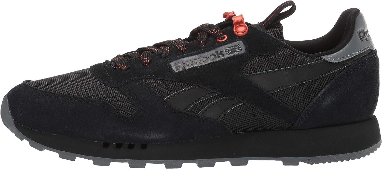 Black//Alloy//Carotene 14 M US Reebok Mens Classic Leather Sneaker