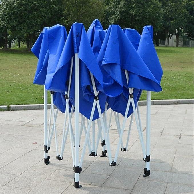 Toldos Exterior Carpa publicitaria Estampado Azul Plegable telescópico Caseta de estacionamiento Tienda de Cuatro Patas Paraguas Generoso Puesto de Venta ...