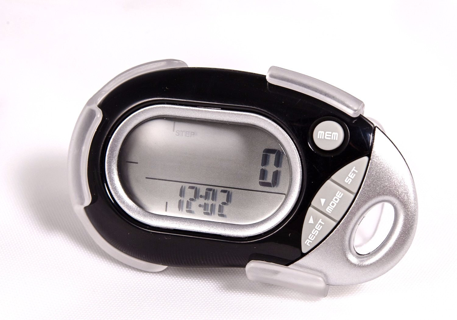 Pedusa PE-771 Tri-Axis Multi-Function Pocket Pedometer - Black With Holster/Belt Clip by HRM