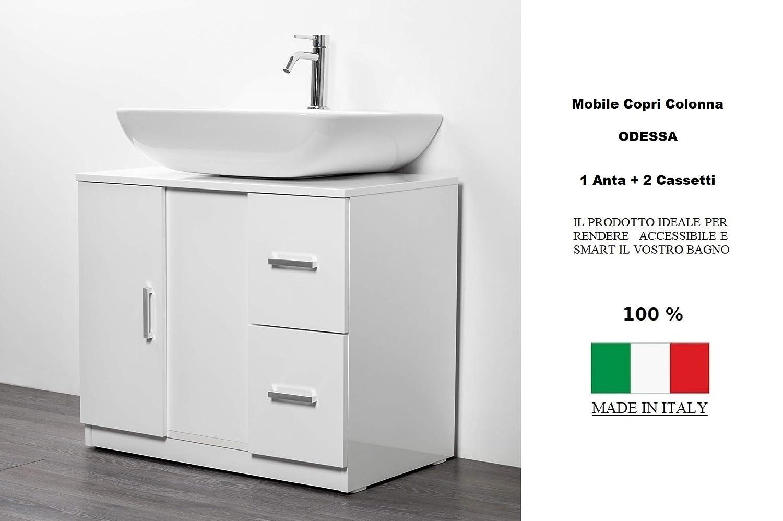 Mobile Bagno Lavandino A Colonna.Sottocolonna 1 Anta 2 Cassetti Mobile Bagno Copri Colonna Lavandino Standard Ebay
