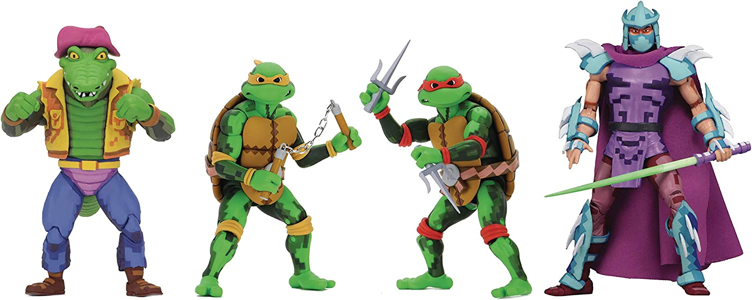 Amazon Com Neca Tmnt Turtles In Time Michelangelo Raphael