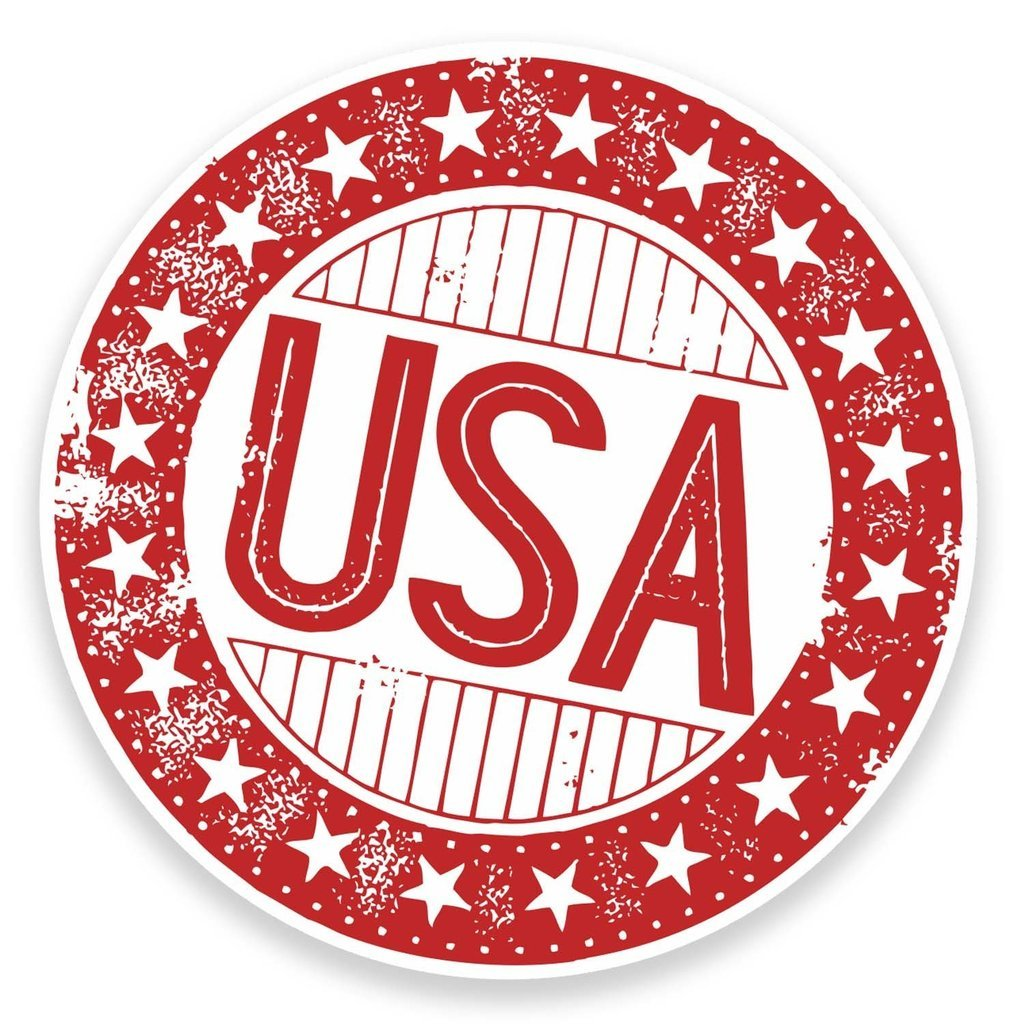 2 x 30cm- 300mm USA America Vinyl SELF ADHESIVE STICKER Decal Laptop Car Travel Luggage Label Tag #9308