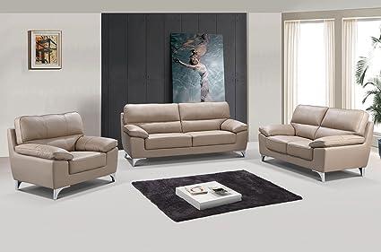 Amazon Com Blackjack Furniture 9436 Beige Leather Match Sofa