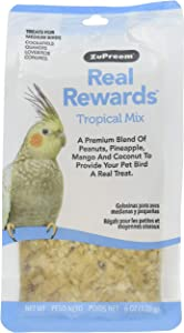 ZuPreem Real Rewards Tropical Mix Medium Bird Treats, 6 oz