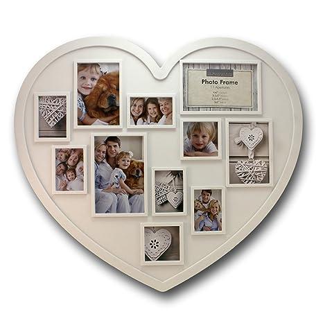 Amazoncom 20 X 18 Inch 11 Photo Collage Frame Large Heart