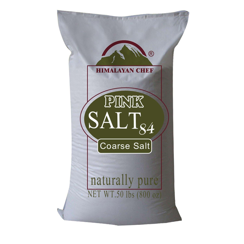 Himalayan Chef  Natural Pure Himalayan Pink Salt, Extra Coarse Grain Salt, 50 Pound Sack