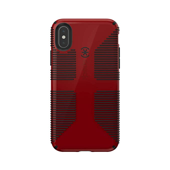 detailed look a2b2b d0d49 Speck Products CandyShell Grip iPhone Xs/iPhone X Case, Punch Red/Black