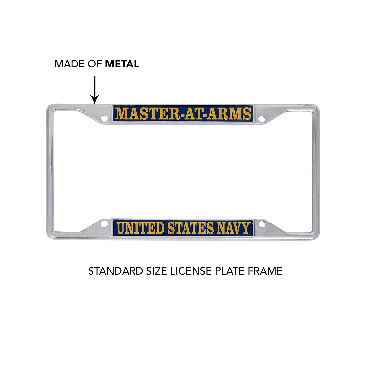 Desert Cactus US Navy Master-at-Arms Enlisted Rating Insignia License Plate Frame for Front Back of Car Officially Licensed United States