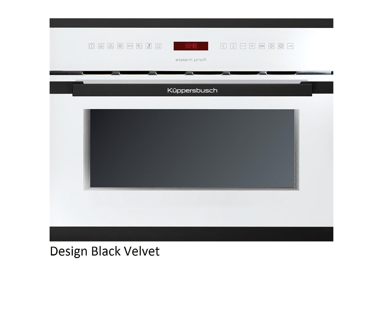 Küppersbusch Einbau-Dampfgarer EDG6550.0, 45 x 56 cm, Design:weiß + Black Velvet
