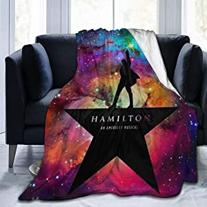 Sadie Mae H-amilton Musical Micro Fleece Bed Flannel Blanket for Luxury Sofa Plush Anti-Pilling Essential Blanket Super Cozy and Comfy Home Bedding Living Room (Hamilton-Musical-Blanket)