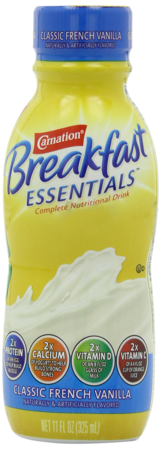 Carnation Breakfast Essentials Ready to Drink, Vanilla, 4-count, 11-Ounce Bottles (Pack of 3)
