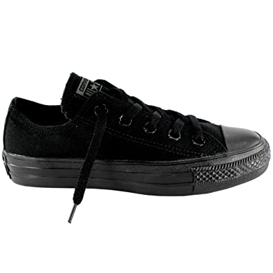 62493899f629 Image Unavailable. Image not available for. Color  Converse Unisex Chuck  Taylor All Star Ox Low Top Classic Black Monochrome Sneakers - 12.5 B
