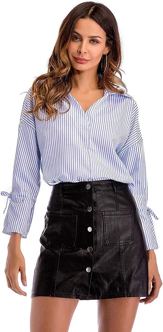 Blusas Mujer Verano Oficina Anchos Moda Moda Camisa Único ...