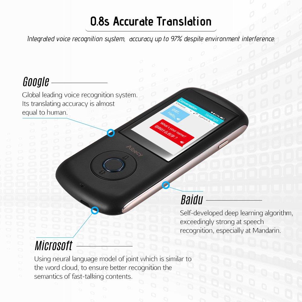 Amazon com : Aibecy Real-time Multi Language Translator