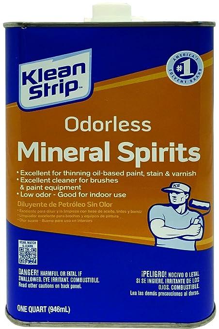 Klean Strip Qksp94005 Odorless Mineral Spirits 1 Quart Household