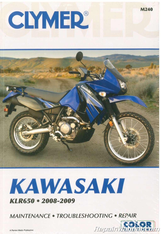 M240 2008-2009 Kawasaki KLR650 KL650 Motorcycle Repair Manual Clymer:  Manufacturer: Amazon.com: Books