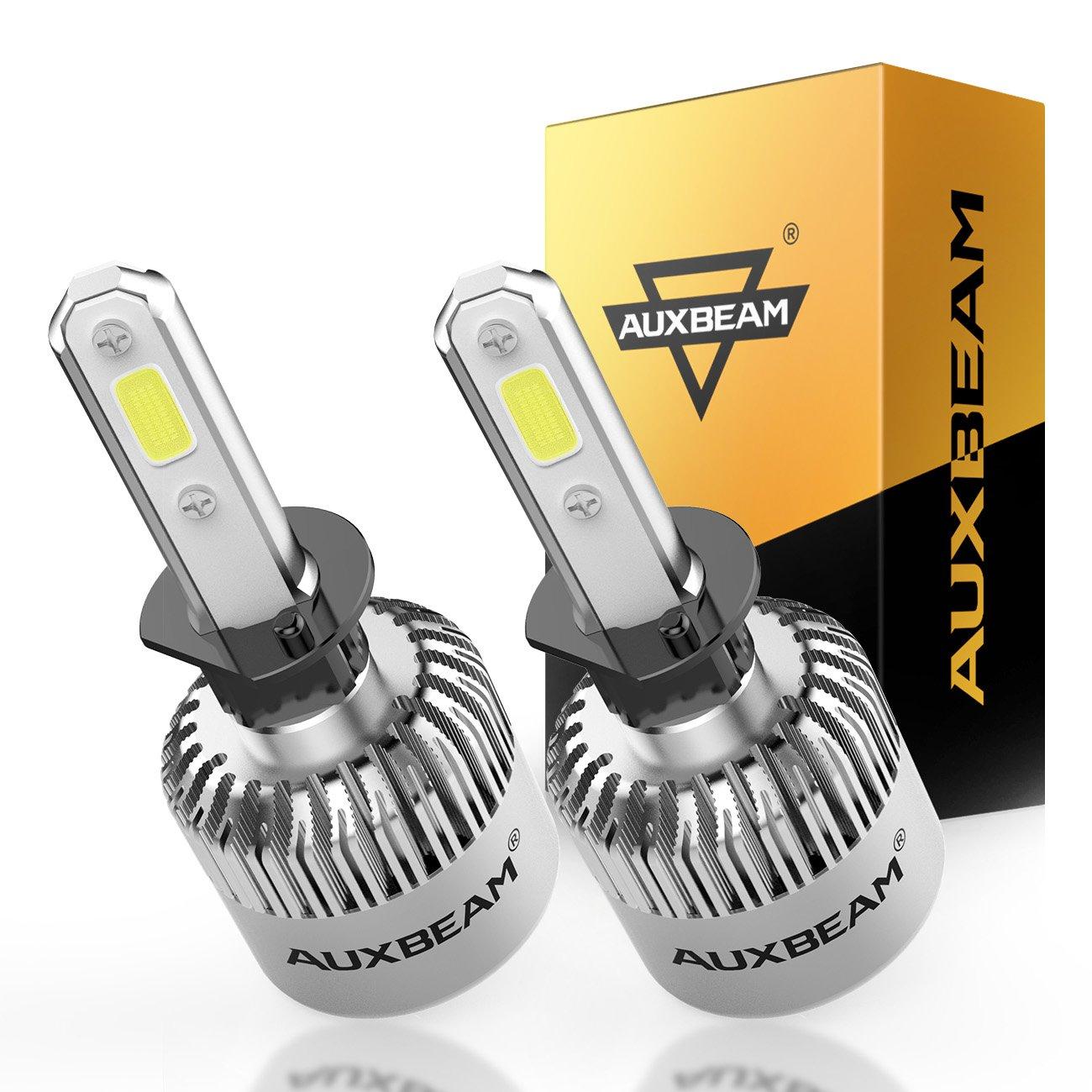 Auxbeam LED Headlights F-S2 Series H1 P145S Headlight Bulbs High Brightness H1 P145S Headlight Conversion Kit with 2 Pcs of H1 Bulbs 72W 8000lm COB Led Chips Single Beam - 2 Year Warranty