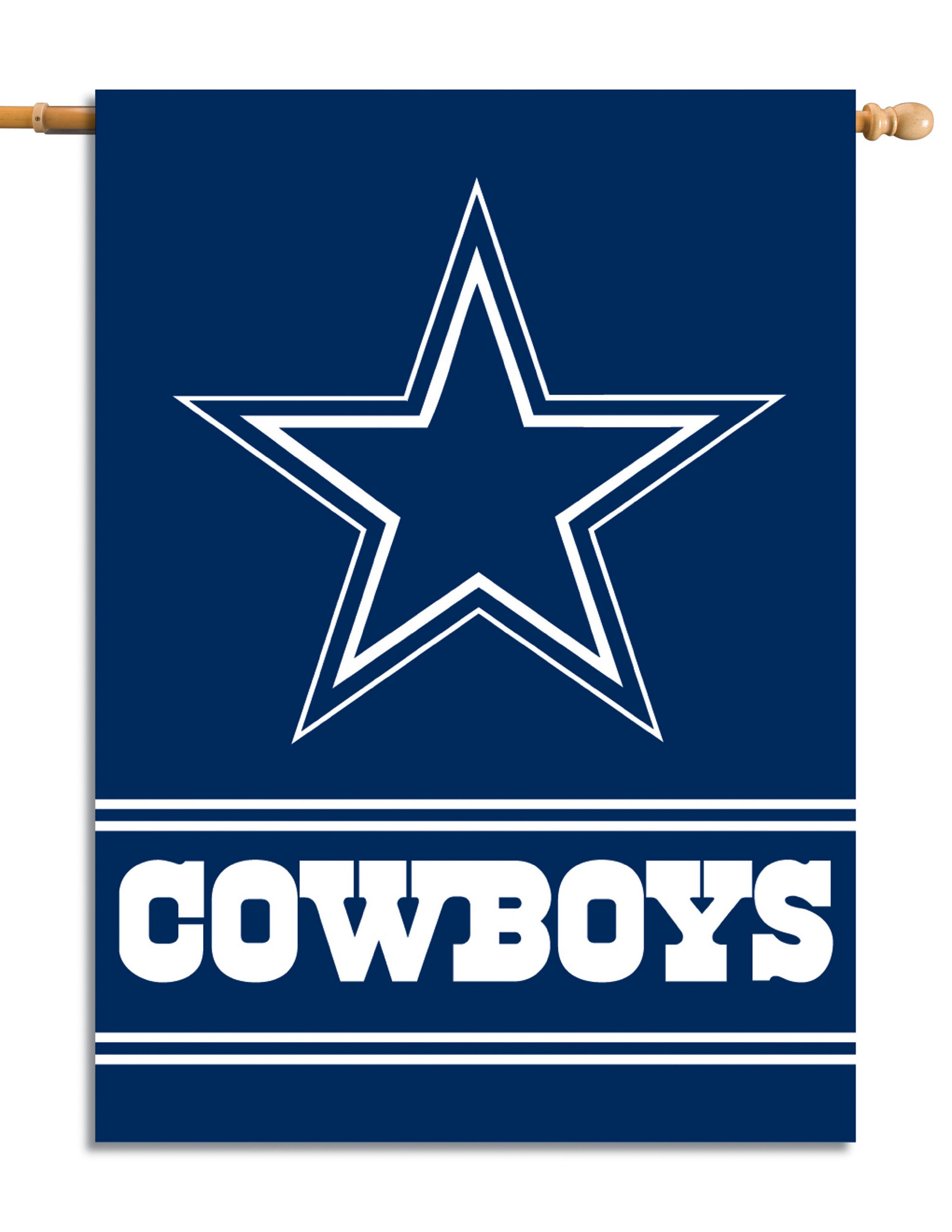 Fremont Die NFL Dallas Cowboys 2-Sided 28-by-40-Inch House Banner