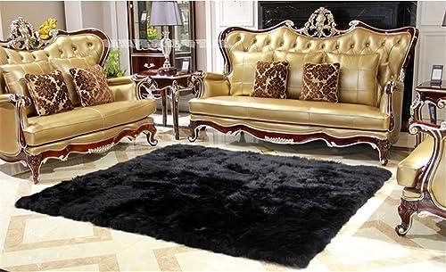 Faux Australian Sheepskin Rug Sofa Couch Stool Casper Vanity Chair Cover Seat Pad Plain Area Rugs Living Bedroom Floor