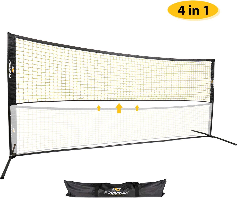 PodiuMax portátil 2 en 1 mini red de voleibol o tenis mojado (red ...
