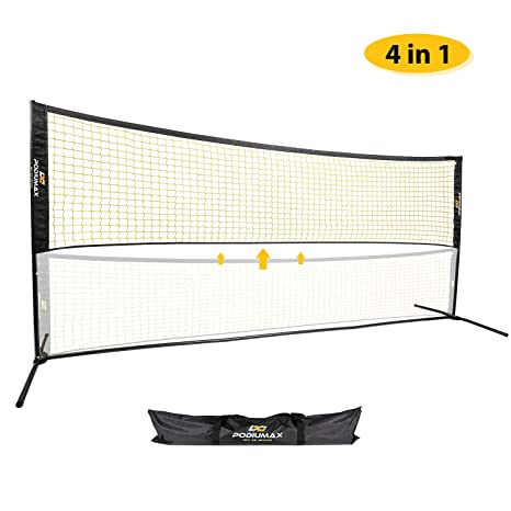 Sports Badminton Tennis Net w//Carry Bag Adjustable Height Outdoor Exercise 4//5m