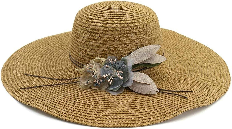 Bishilin Straw Hat,Womens Sun Hats Summer Wide Brim Wooden-Ear Beach Hat Visor