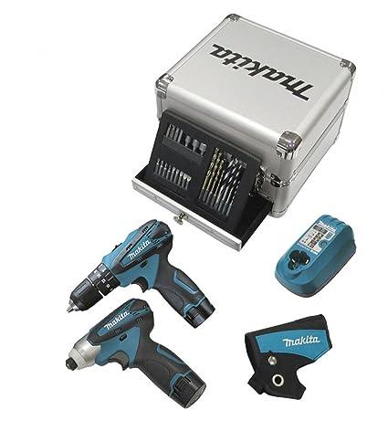 Makita taladro percutor atornillador batería litio 10,8 V baqueta ...