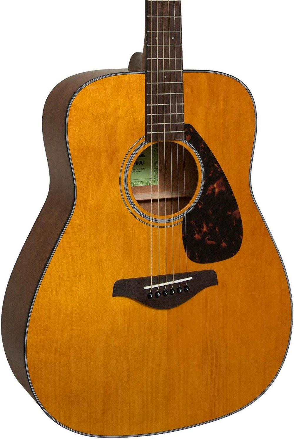 Yamaha Fg800 Folk Acoustic Guitar Vintage Tint Amazon In Electronics
