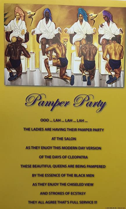 Amazon.com: Unframed Pamper Party With Statement 10x16 inches WAK ...