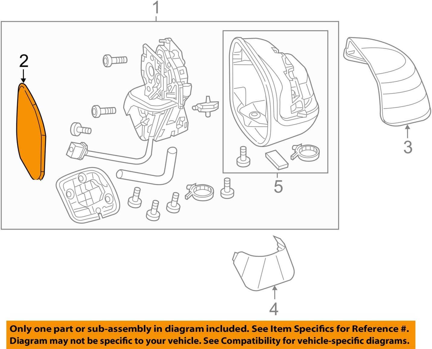 Heated Genuine Honda 76203-TR4-C11 Right Mirror Sub-Assembly