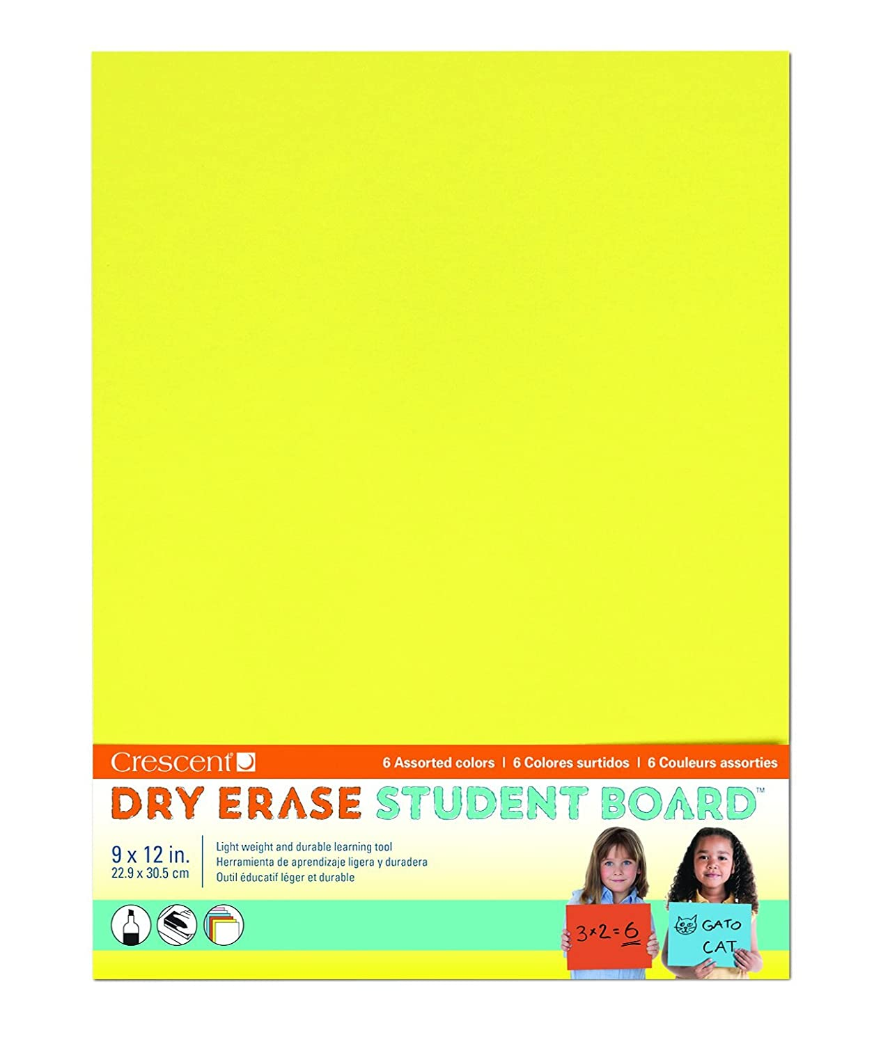 6-pack Assorted Dry Erase Student Board