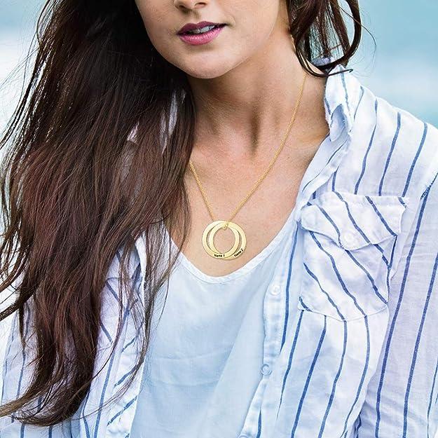 Amazon.com: ROSI - Collar con nombre y nombre de la madre ...