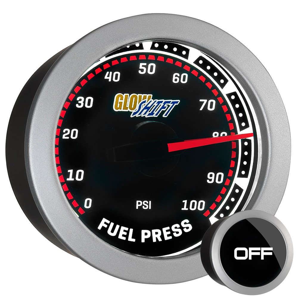 71Us9ArllyL._SL1000_ amazon com glowshift tinted 100 psi fuel pressure gauge automotive  at couponss.co