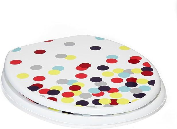 Alinéa Confetti Abattant Wc Ronds Colorés Multicolore