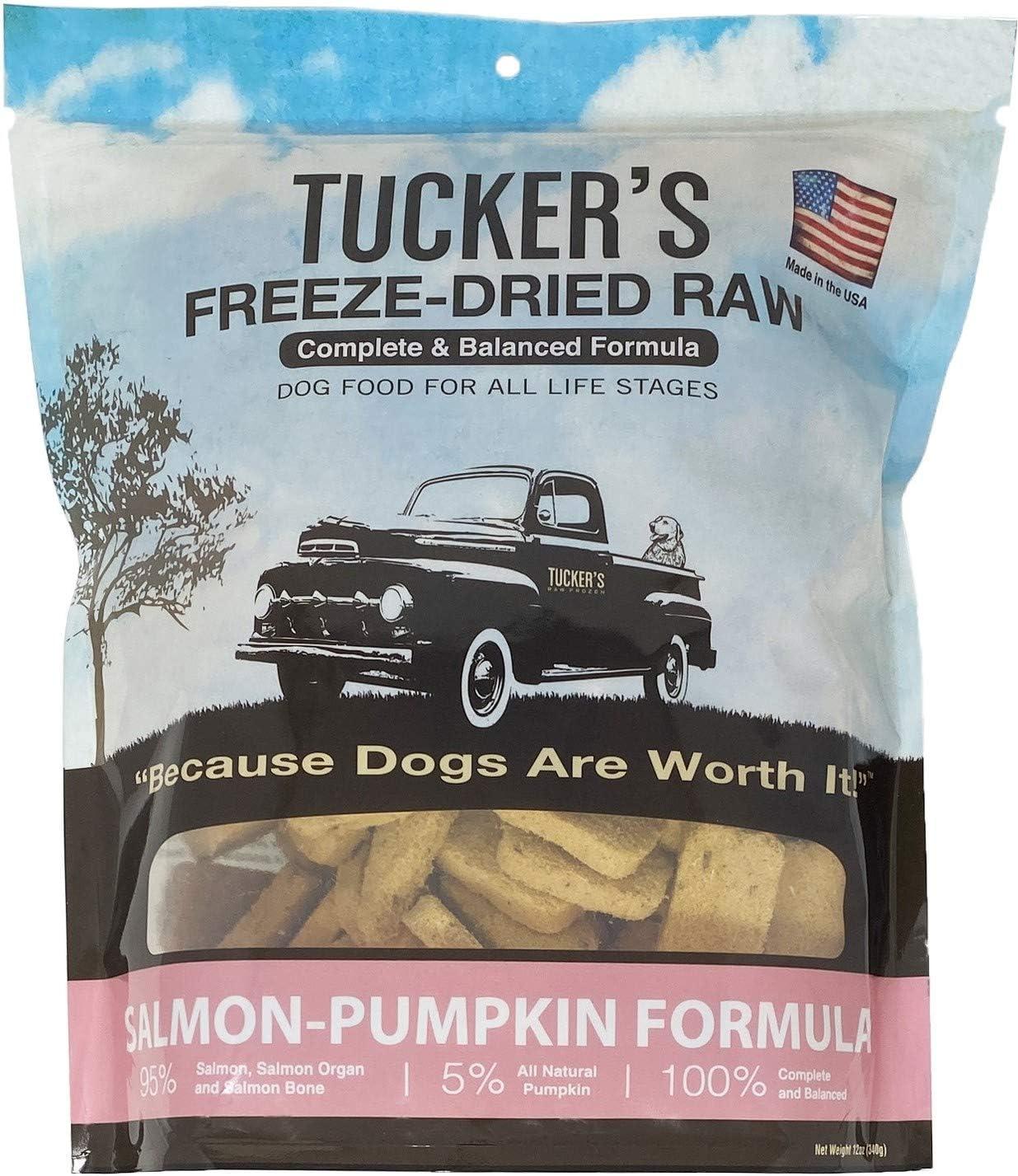 Tucker's Raw Frozen Freeze Dried Raw Dog Food, Salmon & Pumpkin Formula 12oz