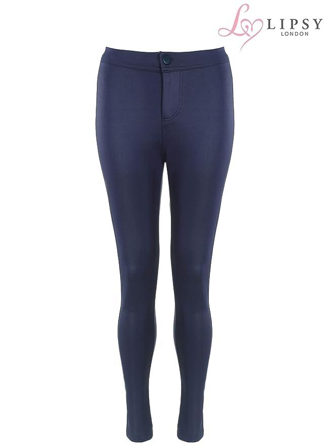 02f9d88c64430 Lipsy Navy Blue Wet Look Legging (UK 6): Amazon.co.uk: Clothing