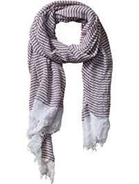 Tickled Pink womens Stripe Insect Shield Bug Repelling Classic Tiny Stripe Lightweight Scarf for Summer