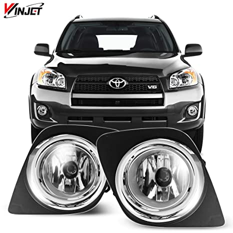 amazon com: winjet wj30-0431-09 oem series for [2009-2012 toyota rav4]  clear lens driving fog lights + switch + wiring kit: automotive