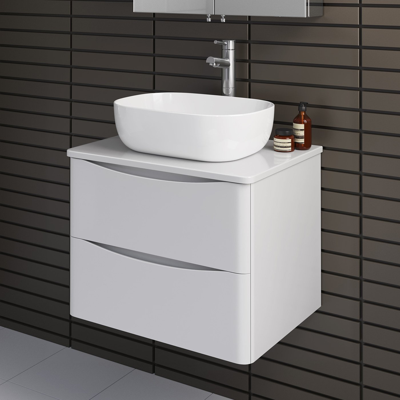 Magnificent Modern Bathroom Furniture Countertop Basin Storage Unit Wall Hung Gloss White Download Free Architecture Designs Scobabritishbridgeorg