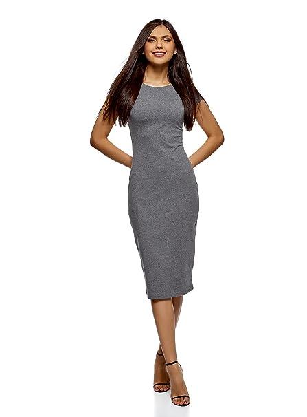 oodji Collection Mujer Vestido Midi (Pack de 2), Gris, ES 34 /