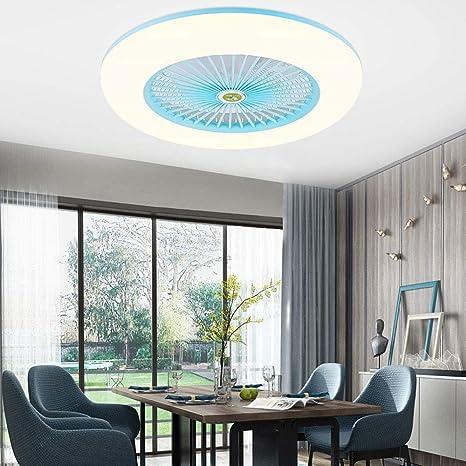 Schlafzimmer Deckenlampe Wohnzimmerlampe f/ür Wohnzimmer Deckenventilator Deckenleuchte 40W Dimmbar mit Beleuchtung und Fernbedienung