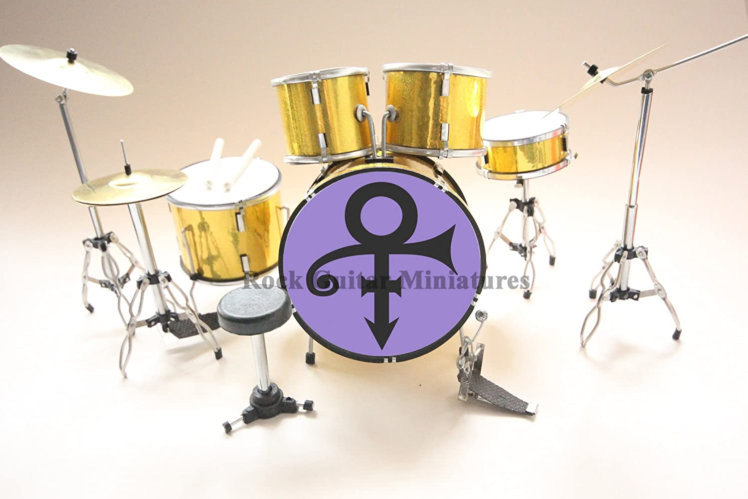 RGM372 Prince Purple Rain miniature drum kit