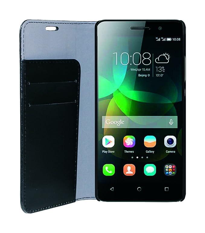 8 opinioni per Phonix HUGPMBCB Custodia a Libro in Ecopelle per Huawei G Play Mini, Nero