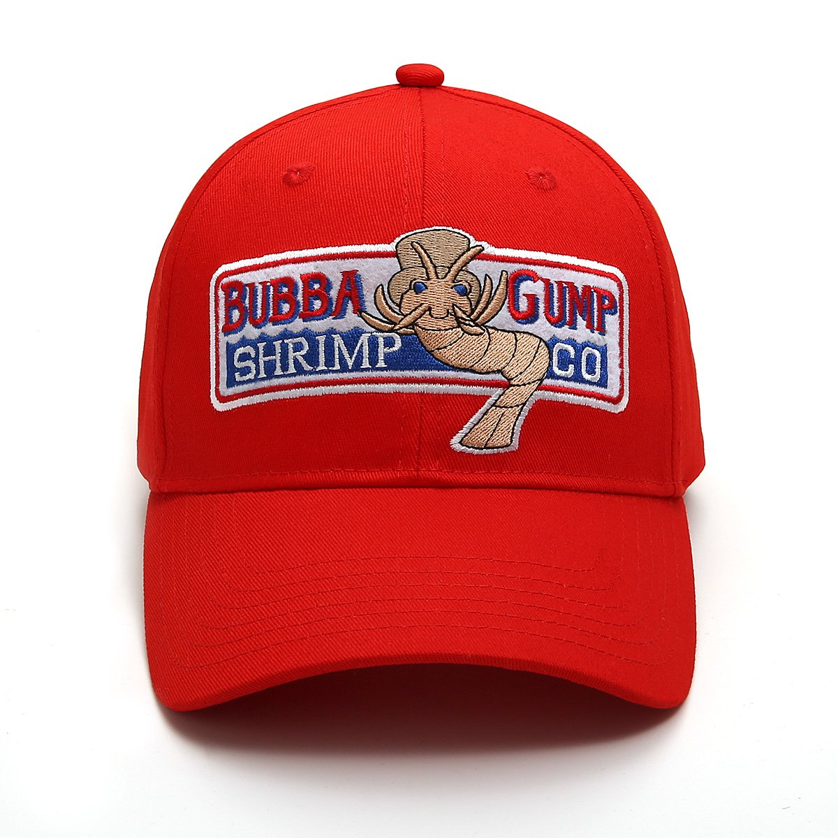 Adjustable Bubba Gump Baseball Cap Shrimp Co. Embroidered Hat (Red)
